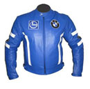 BMW Motorrad Lederjacke blau