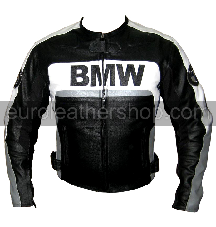 bmw motorrad lederjacke schwarz wei grau. Black Bedroom Furniture Sets. Home Design Ideas