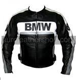 BMW Motorrad Lederjacke schwarz weiß grau