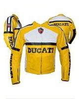 Ducati Motorrad Lederjacke gelbe Farbe