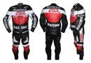 HONDA CBR Motorradrennen Lederkombi rot schwarz