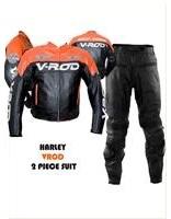 Harley Davidson V ROD Motorrad Lederkombi Orange Schwarz Farbe