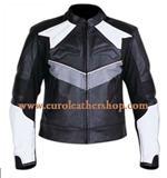Herren-Motorrad-Mode-Lederjacke mit Sicherheit