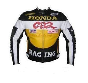 Honda CBR Motorrad Rennsport Lederjacke