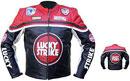 LUCKY STRIKE Marke Motorrad Lederjacke Farbe Rot