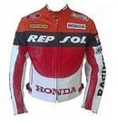 Männer Honda Repsol Motorradrennen Lederjacke