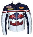 Red Bull Motorrad Lederjacke