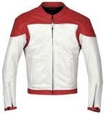 Rot und Weiß Motorrad Lederjacke