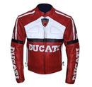 Stilvolle Ducati Leder Motorrad-Rennsport Jacke