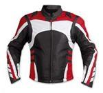 Stilvolle Farbe Motorrad-Lederjacke