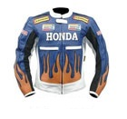 Stilvolle Honda Repsol Motorrad Lederjacke