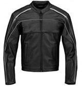 Stilvolle Schwarz und Weiß Motorradrennen Lederjacke