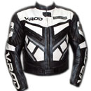 V ROD Schwarz und Weiß Farbe Motorrad Lederjacke