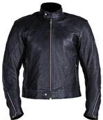 Vollständige schwarz Motorrad Lederjacke