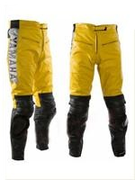 Yamaha Gelbe Farbe Motorrad Lederhose
