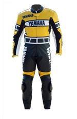 Yamaha ein Stück Motorrad-Lederkombi gelbe Farbe schwarz