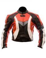 reiten Mode Motorrad-Lederjacke rot schwarz weiß grau