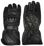 Des gants en cuir de moto noir