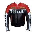 Ferrari moto veste en cuir