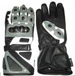 Gris gants en cuir de moto