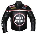 Noir Lucky Strike veste de moto