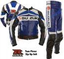 Suzuki GSXR Couleur Bleu combinaison de course
