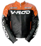 V-ROD moto veste en cuir orange