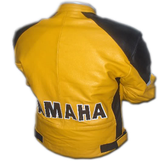 yamaha couleur jaune moto veste en cuir. Black Bedroom Furniture Sets. Home Design Ideas