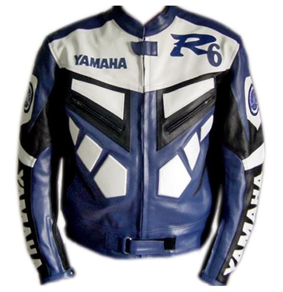 Couleur Veste Cuir De Yamaha Blanc Bleu Et Course R6 En Vélo hQCsrdt