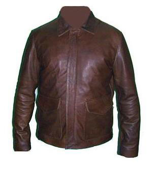 vintage dark brown leather jacket