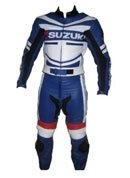 Biker Suzuki Racing Leather Suit
