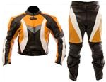 Dirt bike motocross leather suit