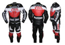 HONDA CBR Biker Racing Leather Suit Red Black