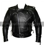 Men Classic TOP GRADE Motorcycle Leather Jacket