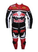 Red Bull Motorcycle Biker Leather Suit