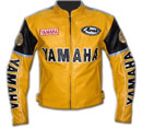 Yamaha Yellow Color Motorcycle Leather Jacket