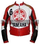 Yamaha 6 red white black color motorcycle jacket