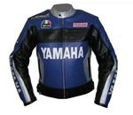 Yamaha Duhan 46 motorcycle leather jacket with sil