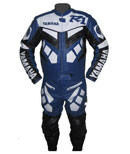 Yamaha R1 blue & white leather suit