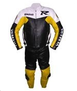 Yamaha R racing two 2 piece motorbike leather suit