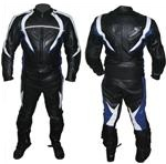 motorbike leather two 2 piece suit black colour