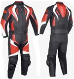 one 1 piece biker racing leather suit