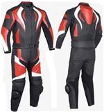 one 1 piece biker racing leather suit