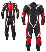 one 1 piece motorbike leather suit
