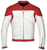 Motocycle Leather Jacket Red Color