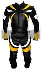 two 2 piece riding motorcycle leather suit